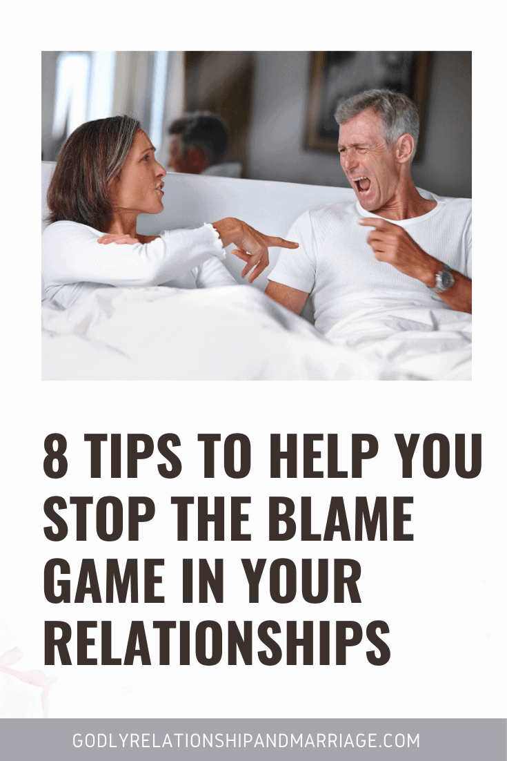 Stop Playing the Blame game and take responsibility for your actions